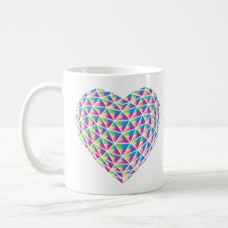 Prisma-Herz-Tassen-Entwurf Kaffeetasse