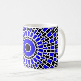 Prisma-Mandala (blau) Kaffeetasse