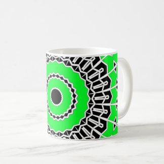 Prisma-Mandala (Grün) Kaffeetasse