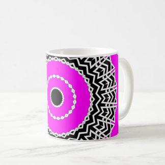 Prisma-Mandala (Rosa) Kaffeetasse