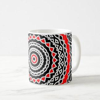 Prisma-Mandala (rot) Kaffeetasse