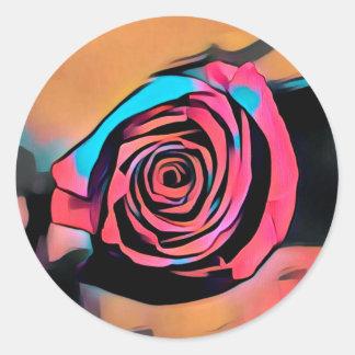 Prisma-Rose Runder Aufkleber