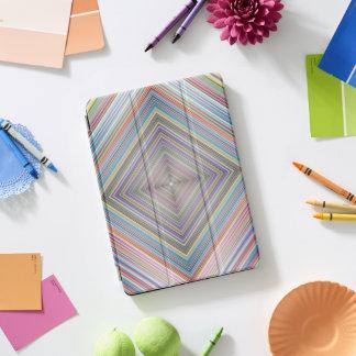 Prismatischer geometrischer Diamant Stripes iPad Pro Cover