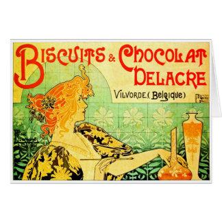 Privat Livemont - Kekse u. Chocolat Delacre Karte