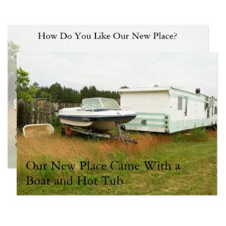 Private Adressenänderung Karte: Boot und heiße Karte