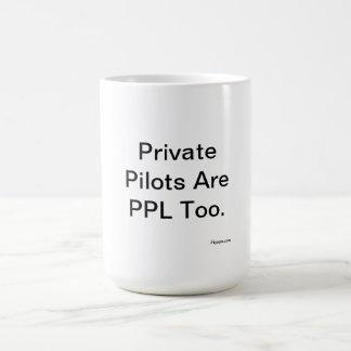 Private Piloten sind PPL auch Kaffeetasse
