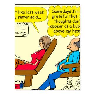 Privater Blasen-Therapeut-Cartoon des Gedankens Postkarte