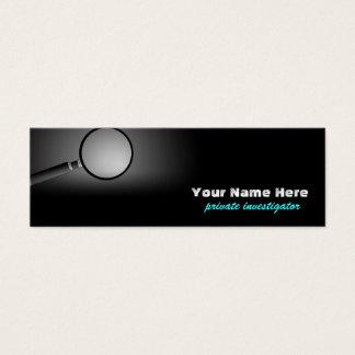 Privater Forscher-Lesezeichen-Geschäfts-Karten Mini Visitenkarte