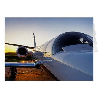 Privater Jet-Flugzeug Karte