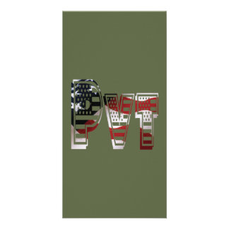 Privater USA-Militärarmee-Grün-Amerikaner Pvt Karte