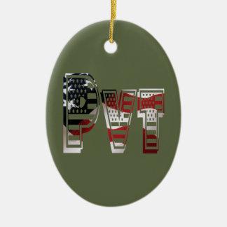 Privater USA-Militärarmee-Grün-Amerikaner Pvt Keramik Ornament