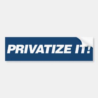 Privatisieren Sie es Autoaufkleber