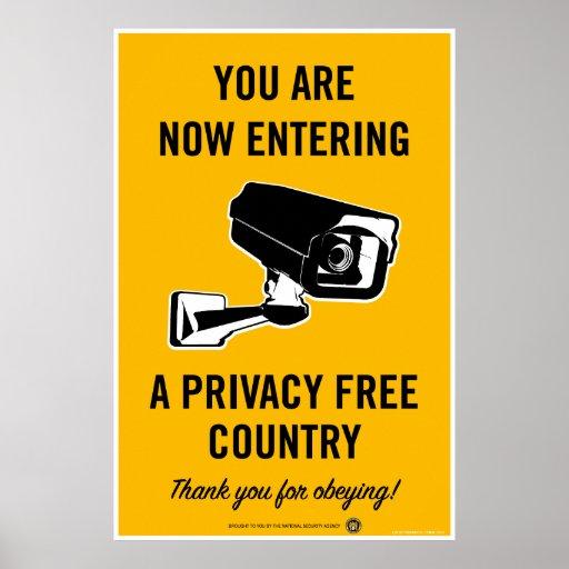 Privatleben-freies Land-Plakat
