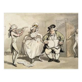 Privatpraxis vorhergehend zum Ball, 'von der Szene Postkarte