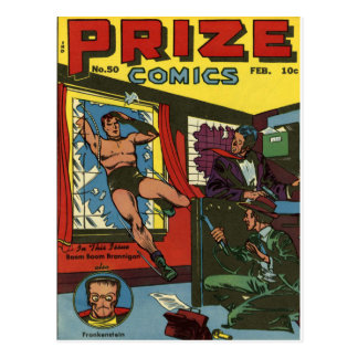 PRIZE COMICEN coole Vintage Postkarte