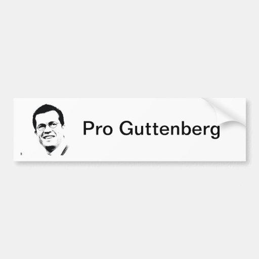 Pro Guttenberg Autoaufkleber