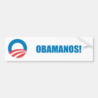 Pro-Obama - OBAMANOS (2) Autoaufkleber