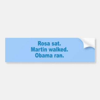 Pro-Obama - ROSA SAT. MARTIN GING. OBAMA LIEF Autoaufkleber