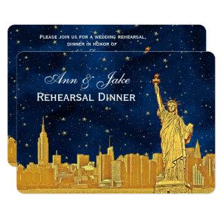 Proben-Abendessen des GoldNYC blaues Starry H Karte