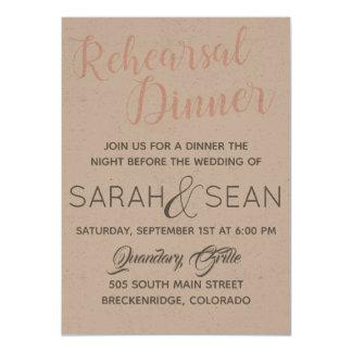 Proben-Abendessen-Einladung Karte