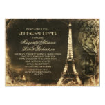 Probenabendessen Turms Paris Eiffel Vintages Personalisierte Einladungskarte