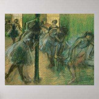 Probende Tänzer Edgar Degass | Poster