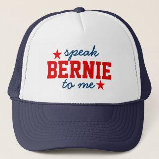 Probernie-Text-Entwurf sprechen Bernie mit mir Truckerkappe