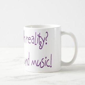 Problem mit Wirklichkeit? Keine Hintergrundmusik Kaffeetasse