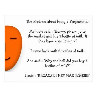 Problem über Sein ein Programmierer-lustiger Postkarte