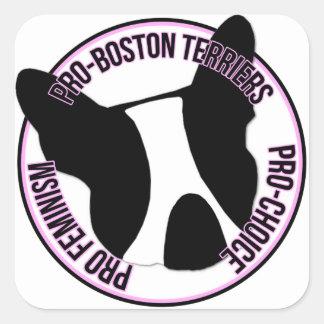Proboston-Terrier, Profeminismus, Prowahl Quadratischer Aufkleber