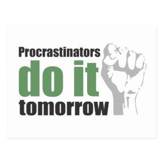 Procrastinators tun es morgen postkarte