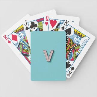 Produkt mit Buchstabe V Bicycle Spielkarten