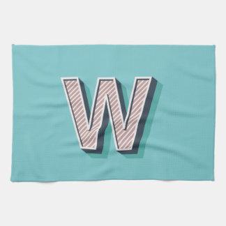 Produkt mit Buchstabe W Handtuch