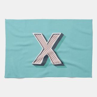 Produkt mit Buchstabe X Handtuch