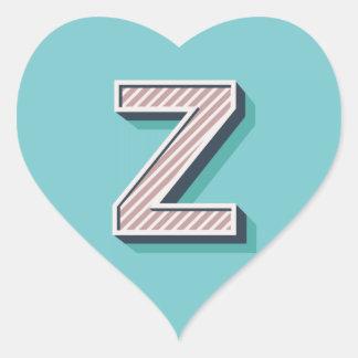Produkt mit Buchstabe Z Herz-Aufkleber
