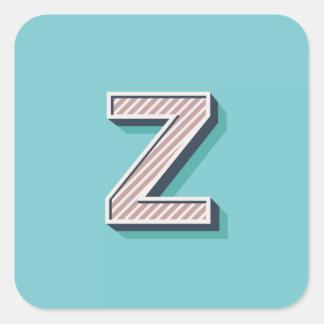 Produkt mit Buchstabe Z Quadratischer Aufkleber