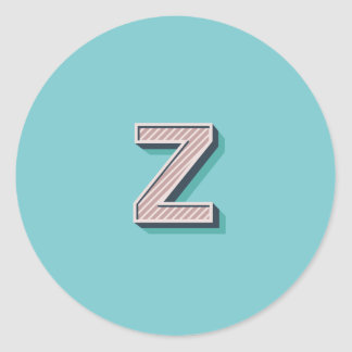 Produkt mit Buchstabe Z Runder Aufkleber