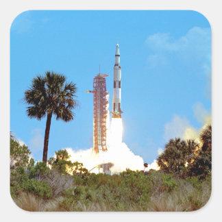 Produkteinführung der NASAs Apollo 16 Quadratischer Aufkleber