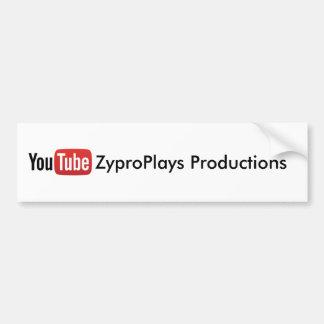 Produktions-Aufkleber YouTube ZyproPlays Autoaufkleber