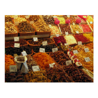 Produzieren Sie Stall, Boqueria Markt, Barcelona,  Postkarten