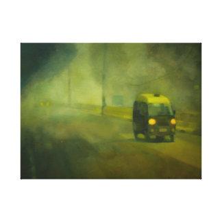 Prof Ashfaq Ali Khan Road, Öl auf Leinwand (Druck)