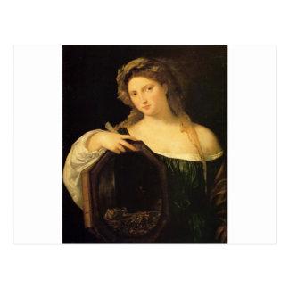Profane Liebe durch Titian Postkarte