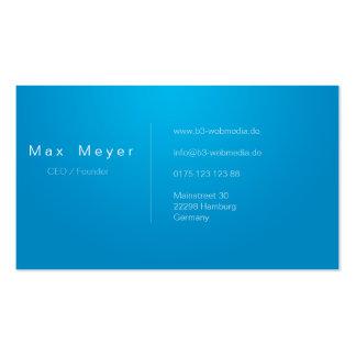 Professionelle Business Visitenkarten Blue/White