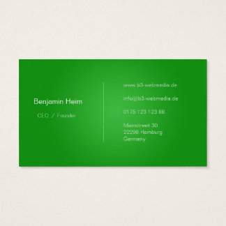 Professionelle Business Visitenkarten Green/white