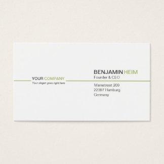 Professionelle Business Visitenkarten white/green