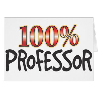 Professor 100 Prozent Karte