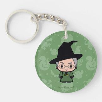 Professor McGonagall Cartoon Character Art Schlüsselanhänger