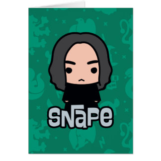 Professor Snape Cartoon Character Art Karte