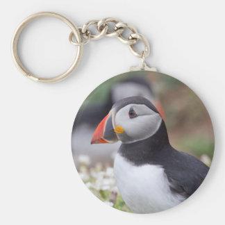 Profil des Papageientauchers auf Skomer Insel Standard Runder Schlüsselanhänger