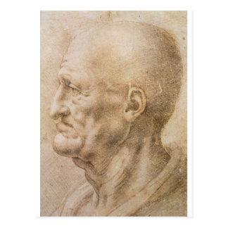 Profil eines alten Mannes Postkarte